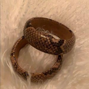 Jewelry - 2 Snakeskin bangle bracelets